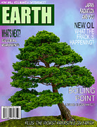 Magazine Cover Digital Art - Earth Magazine by John Haldane