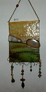 Panel Glass Art Originals - Earth by Nora Solomon