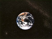 Stargazing Prints - Earth Seen From Apollo 17 Africa And Antarctica Visible Print by Anonymous