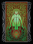 Sacred Digital Art Metal Prints - Earth Spirit v.2 Metal Print by Cristina McAllister