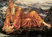 Evelyn De Prints - Earthbound Detail Print by Evelyn de Morgan