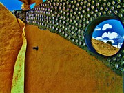 Earthship Framed Prints - Earthship Taos Framed Print by Monica Moran