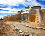 Earthship Framed Prints - Earthship Taos  Framed Print by Shanna Gillette