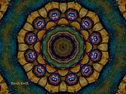 Digital Paintings - Earthy Mandala by The Feathered Lady