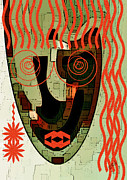 Irregular Shapes Posters - Earthy Woman Poster by Ben and Raisa Gertsberg