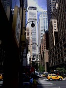 Pan Am Framed Prints - East 45th Street - BEFORE Framed Print by Miriam Danar