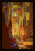 For Modern Decor Framed Prints - East 45th Street - New York City Framed Print by Miriam Danar