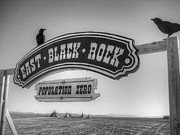 Signage Posters - East Black Rock Poster by Jane Linders