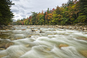 Fall River Scenes Framed Prints - East Branch of the Pemigewasset River - Lincoln New Hampshire A Framed Print by Erin Paul Donovan