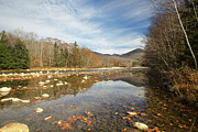 River Scenes Prints - East Branch of the Pemigewasset River - Lincoln New Hampshire Autumn Print by Erin Paul Donovan