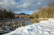 New England Snow Scene Metal Prints - East Branch of the Pemigewasset River - Lincoln New Hampshire Metal Print by Erin Paul Donovan