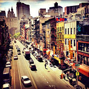 Nyc Street Framed Prints - East Broadway - Chinatown - New York City Framed Print by Vivienne Gucwa