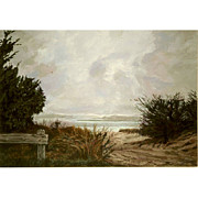 Hamptons Originals - East Hampton Light  An Original Landscape by Eleanor Gilpatrick