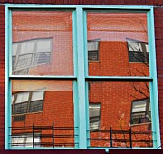 Architectural Abstract Posters - East Harlem Windows Poster by Sarah Loft