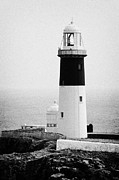 Irish Folklore Prints - East Light lighthouse Altacarry Altacorry head Rathlin Island  Print by Joe Fox