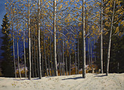 Albuquerque Paintings - East Mountain Fall by Jack Atkins