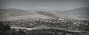 Prescott Prints - East Prescott Black and White Panoramic Print by Aaron Burrows