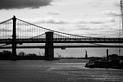 Usa Icons Framed Prints - East River New York City Brooklyn Manhattan Bridges Framed Print by Joe Fox