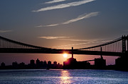 Manhattan Bridge Digital Art - East River Sunrise - New York City by Bill Cannon