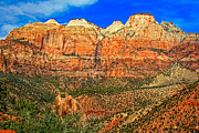 Zion National Park Posters - East Temple Poster by Robert Bales