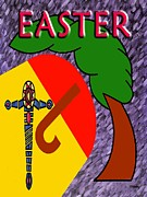 Crucifixion Mixed Media Prints - Easter 4 Print by Patrick J Murphy