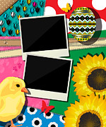 Photo Collage Prints - Easter background Print by Richard Laschon