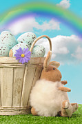 Easter Eggs Posters - Easter Basket Poster by Christopher and Amanda Elwell