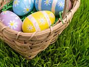 Easter Basket Print by Edward Fielding