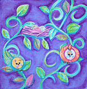 Vine Leaves Originals - Easter Birdys by Shelley Overton