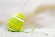 Tradition Art - Easter decorated egg on sand by Michal Bednarek