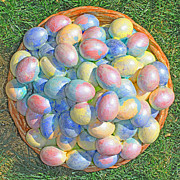 Basket Sculpture Posters - Easter  Eggs  For  Grandchildren  2013 Poster by Carl Deaville