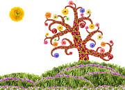 Aleksandr Volkov - Easter Flowers Tree...