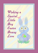 Easter For Small Boy Print by Rosalie Scanlon