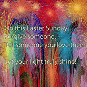 Easter Digital Art Posters - Easter Inspiring digital painting Poster by Georgeta Blanaru