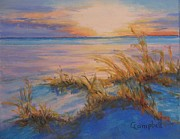 Sea Oats Pastels Prints - Easter Morning Print by Cecelia Campbell