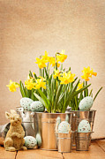 Buckets Framed Prints - Easter Setting Framed Print by Christopher and Amanda Elwell