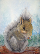 Woods Pastels - Eastern Gray Squirrel by Loretta Luglio