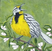 Meadowlark Paintings - Eastern Meadowlark by Fran Brooks