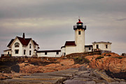 New England Lighthouse Prints - Eastern Point Lighthouse Print by Joann Vitali