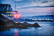 Eastern Yacht Club Starts The Marblehead Harbor Illumination Off Print by Jeff Folger
