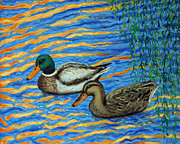 Ducks Paintings - Eastlake Ducks by Dwain Ray