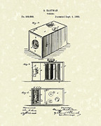 Camera Drawings Prints - Eastman Camera 1889 Patent Art Print by Prior Art Design