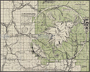Old Map Paintings - Eastons map of Mt. Baker Wash 1912 by MotionAge Art and Design - Ahmet Asar