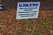 Advise Prints - Eat - Drink - Be Merry Print by Vadim Levin