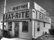 Greasy Spoon Prints - Eat Rite Diner Print by Jane Linders