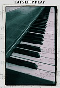 Eat Sleep Play Piano Print by Dan Sproul