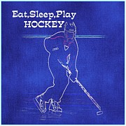 Puck Originals - Eat Sleep Play Hockey by Marilyn Giannuzzi