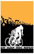 Eat Sleep Ride Repeat Print by Sassan Filsoof