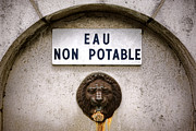 Faucet Photo Posters - Eau Non Potable Poster by Olivier Le Queinec