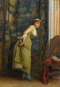 Greek Artists - Eavesdropping by Theodoros Rallis